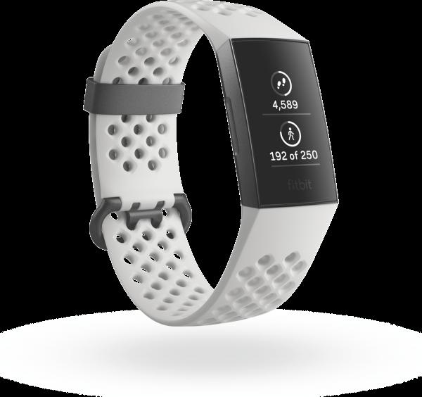 Charge 3 (NFC), SE Graphite/White Silicone