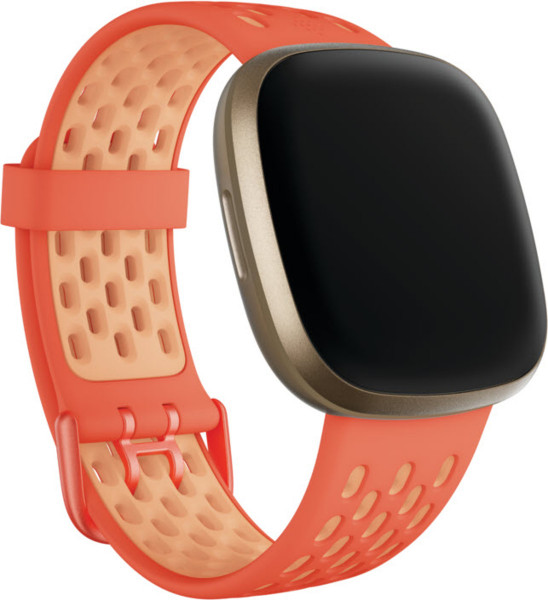 Versa 3/ Sense,Sport Band,Melon/Rose,Large