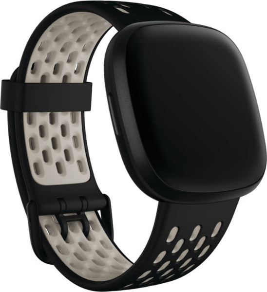 Versa 3/Sense,Sport Band,Black/Lunar White,Large