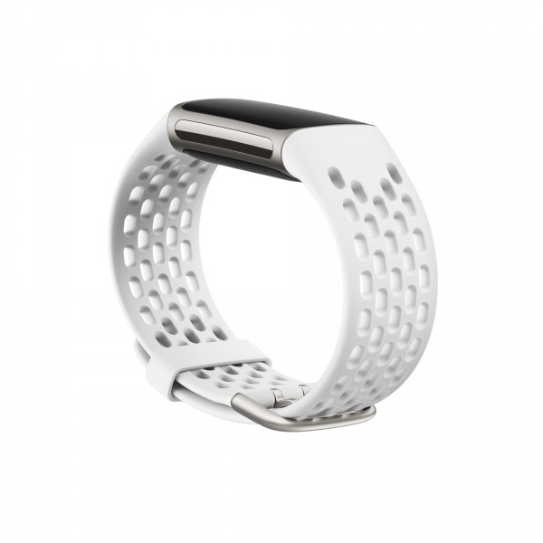 Charge 5, Sport Band,Frost White,Large
