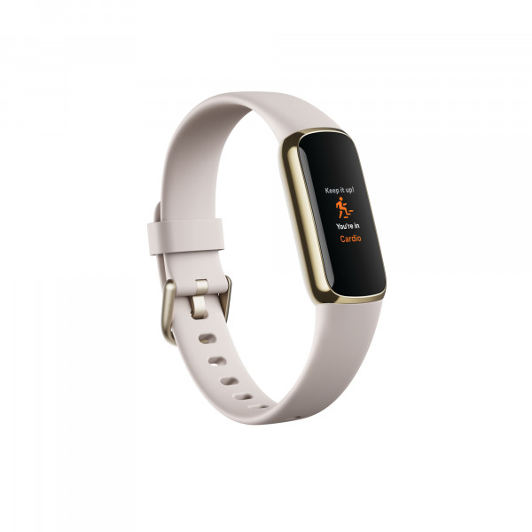Luxe, Yellow Gold/Porcelain White + fitbit Trinkflasche