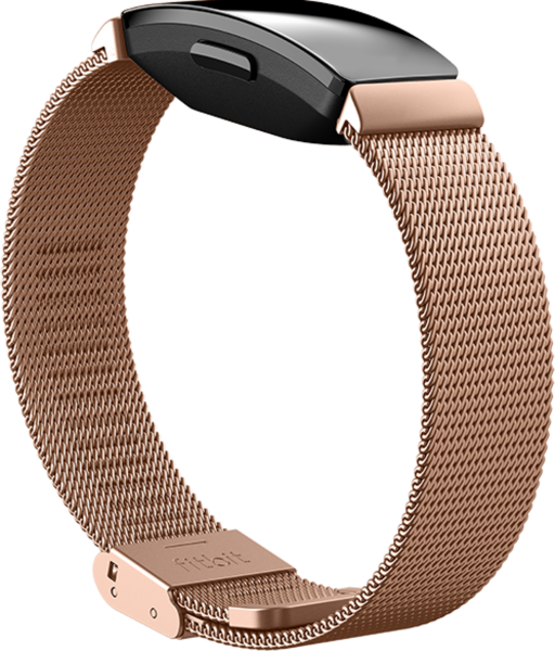 Inspire,Accessory Band,Metal Mesh,Rose Gold Stainless S