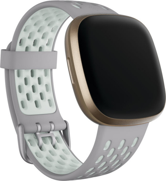 Versa 3/ Sense,Sport Band,Grey/Mint,Large
