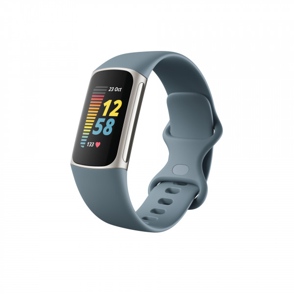 Charge 5, Steel Blue/ Platinum Stainless Steel
