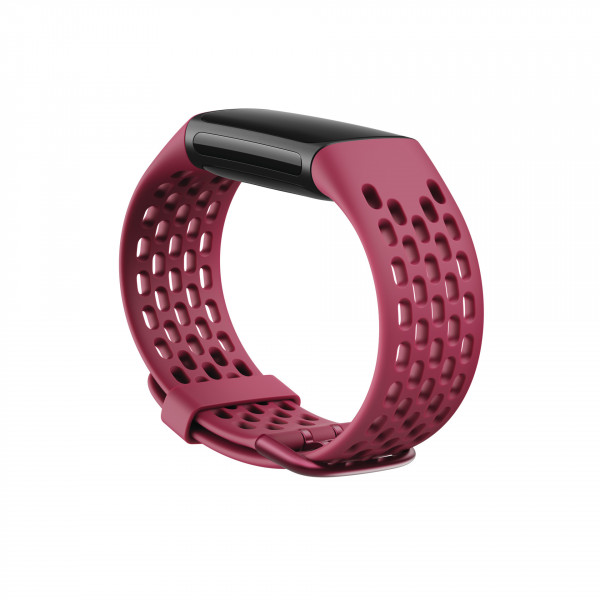 Charge 5, Sport Band,Black Cherry,Small