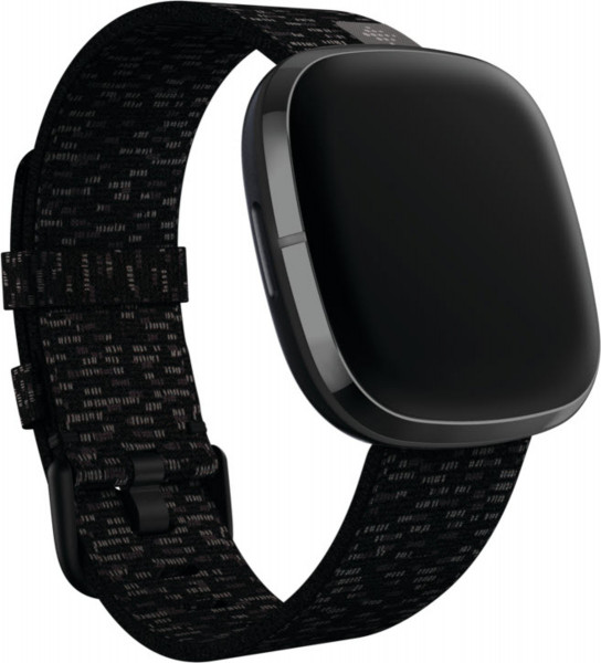 Versa 3/ Sense,Woven Band,Charcoal,Large