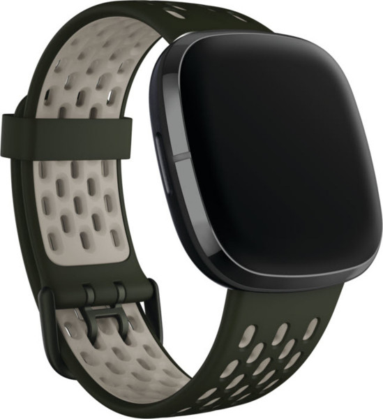 Versa 3/ Sense, Sport Band,Evergreen/Lunar White,Large